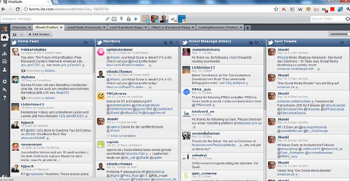 Screenshot einer Hootsuite Anwendung