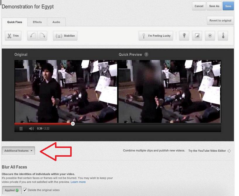 YouTube Gesichter schwärzen