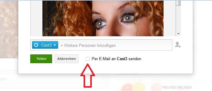 Google Post mit EMail Nachricht