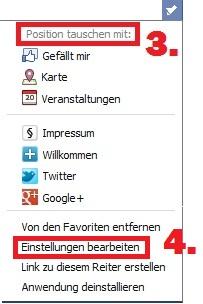 Pimp your Facebook - Tab Position tauschen