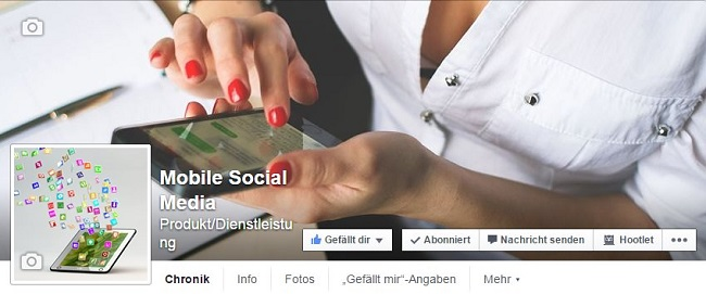 Fanpage Mobile Social Media