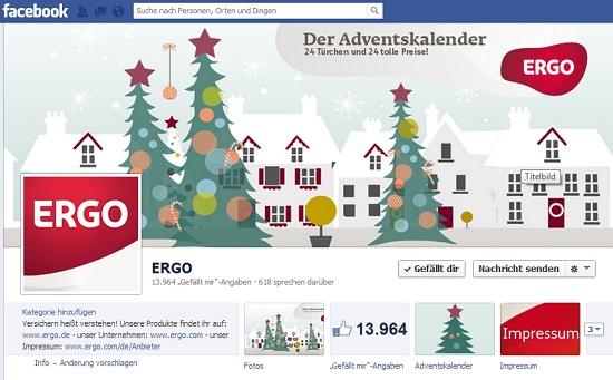 Weihnachten auf Facebook