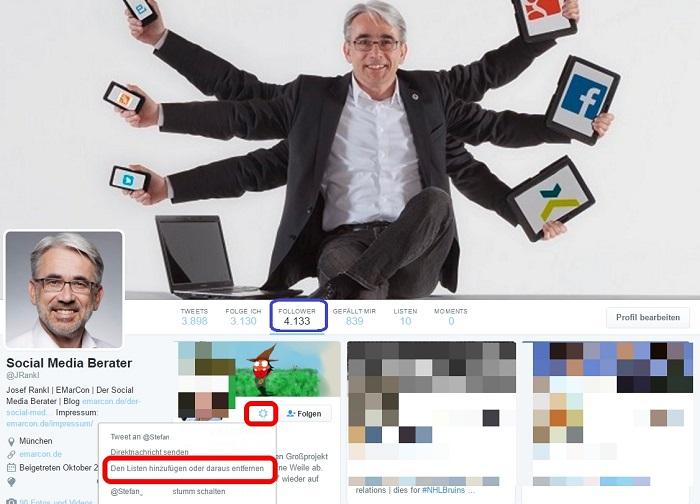 Twitter für Einsteiger - Twitter Listen erstellen