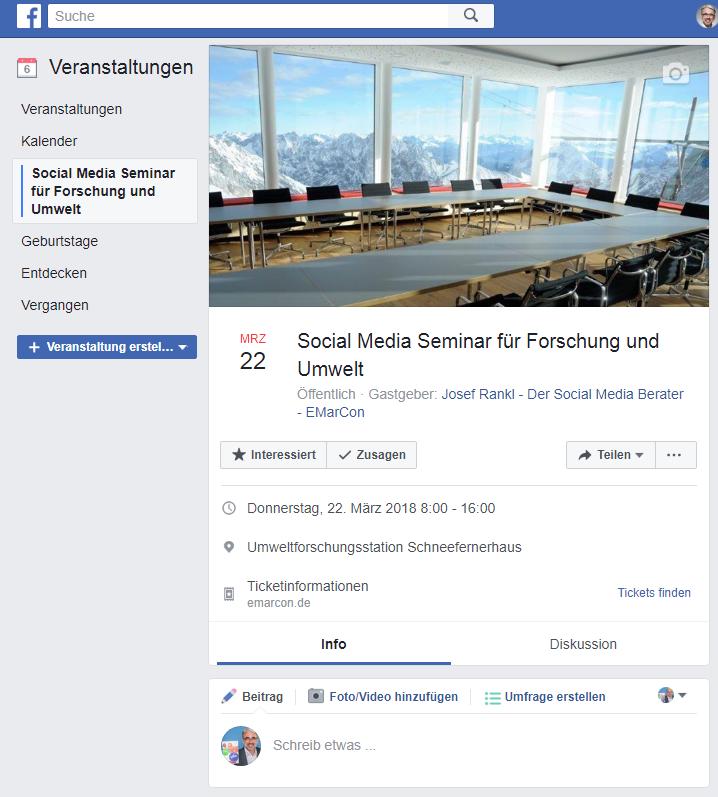 Facebook Veranstaltungsfoto Beispiel