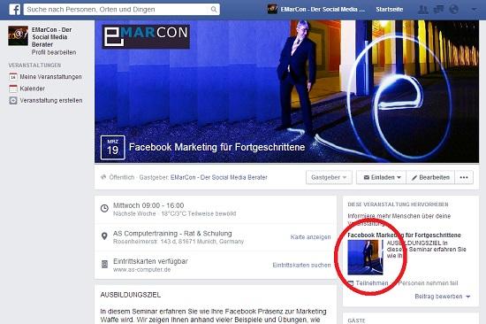 Facebook Veranstaltungsfoto