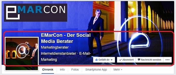 Facebook Fanpage Redesign - Headerbild