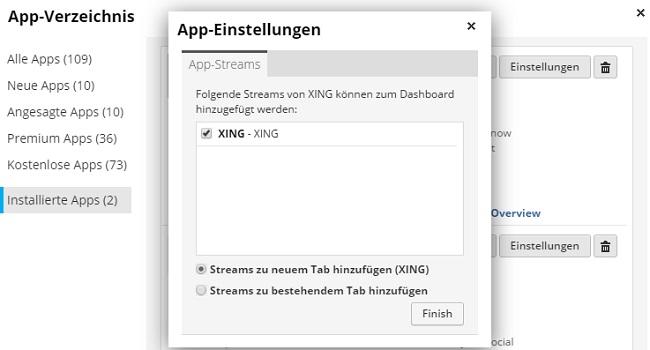 Xing App auf Hootsuite
