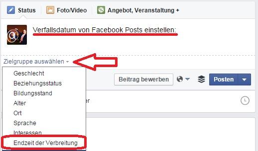 Neue Posts mit Verfallsdatum auf Facebook