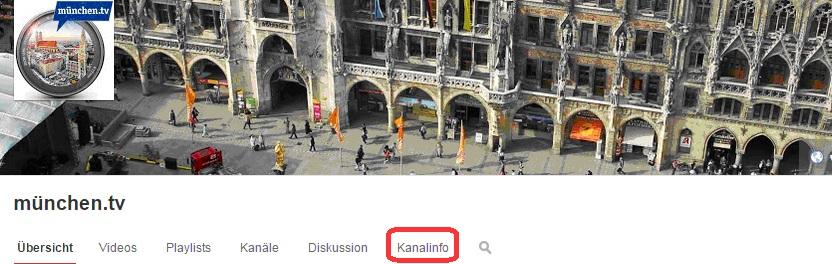 YouTube Kanal erstellen und Kanalinfo erfassen
