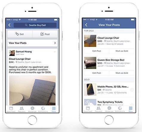Facebook Verkaufsgruppe Einstellungen