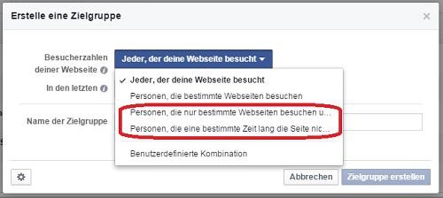 Aktuelle Facebook Features: Remarketing