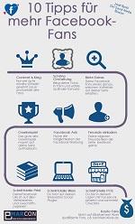 Infografik: 10 Tipps für mehr Facebook Fans