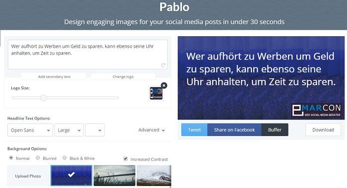 Pimp your Post mit Pablo