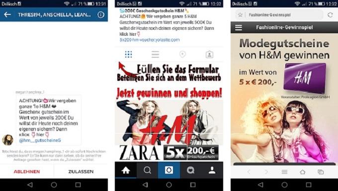 Instagram Marketing Beispiel mit Teilen Funktion