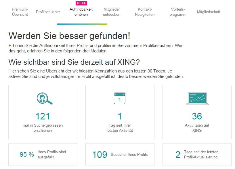 Neue Xing Premium Funktionen Auffindbarkeit erhöhen