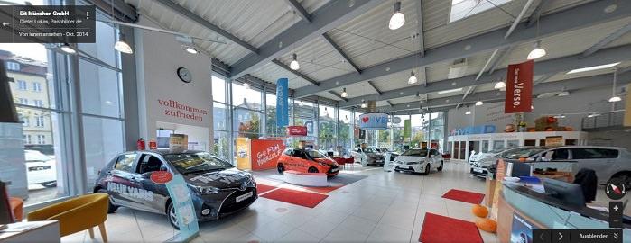 Google Panoramabild Autohaus