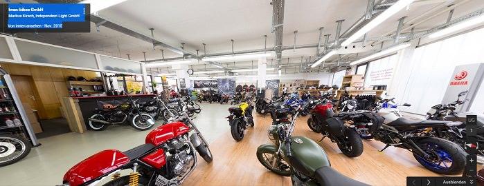 Google Panoramabilder Motorrad Laden