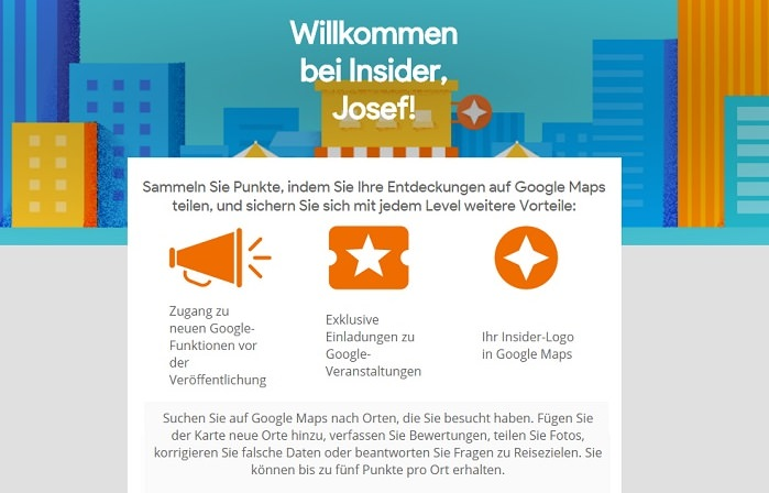 Insider Programm für Google Bewertungen: Leistungen
