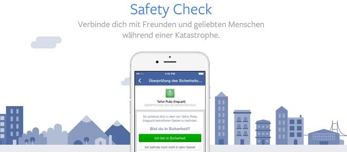 Facebook Sicherheits Check im Krisenfall