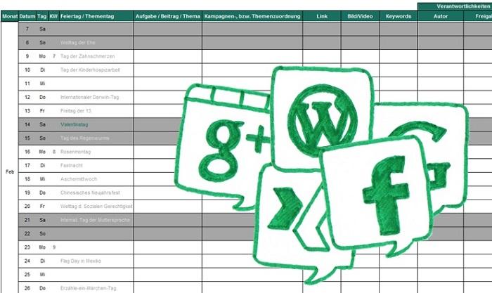 Social Media Betreuung Content Kalender