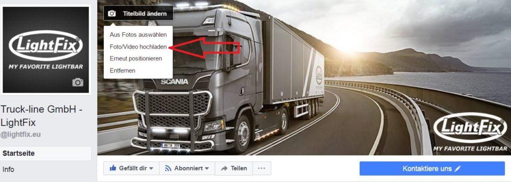 Facebook Titelbild als Video