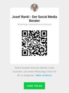 WhatsApp Business QR-Code