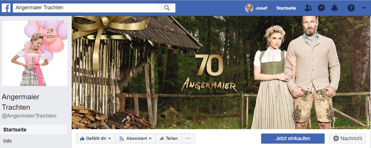 Facebook Ads für Trachtenmode