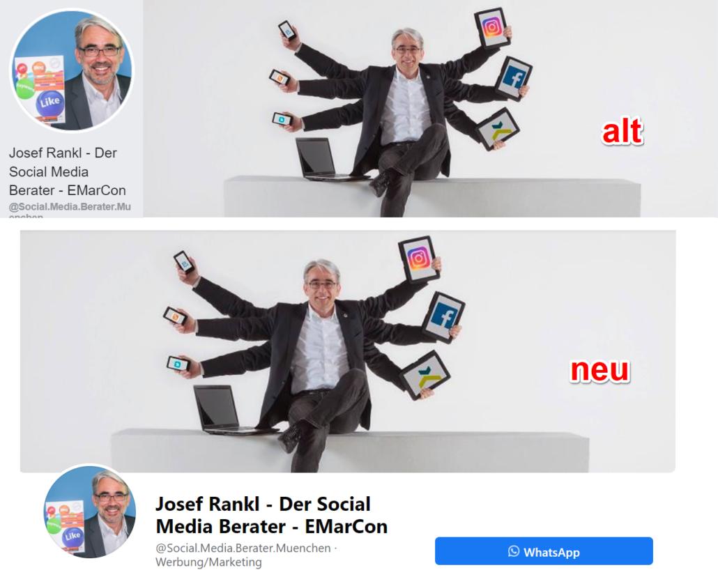 Neues Facebook Design anpassen Titelbild
