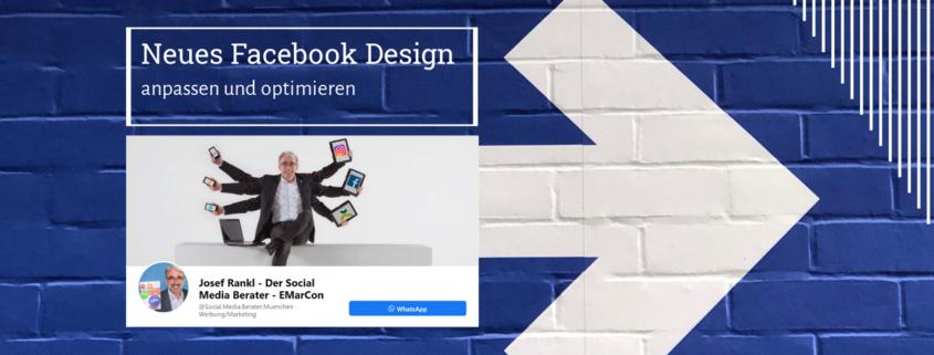 Neues Facebook Design anpassen