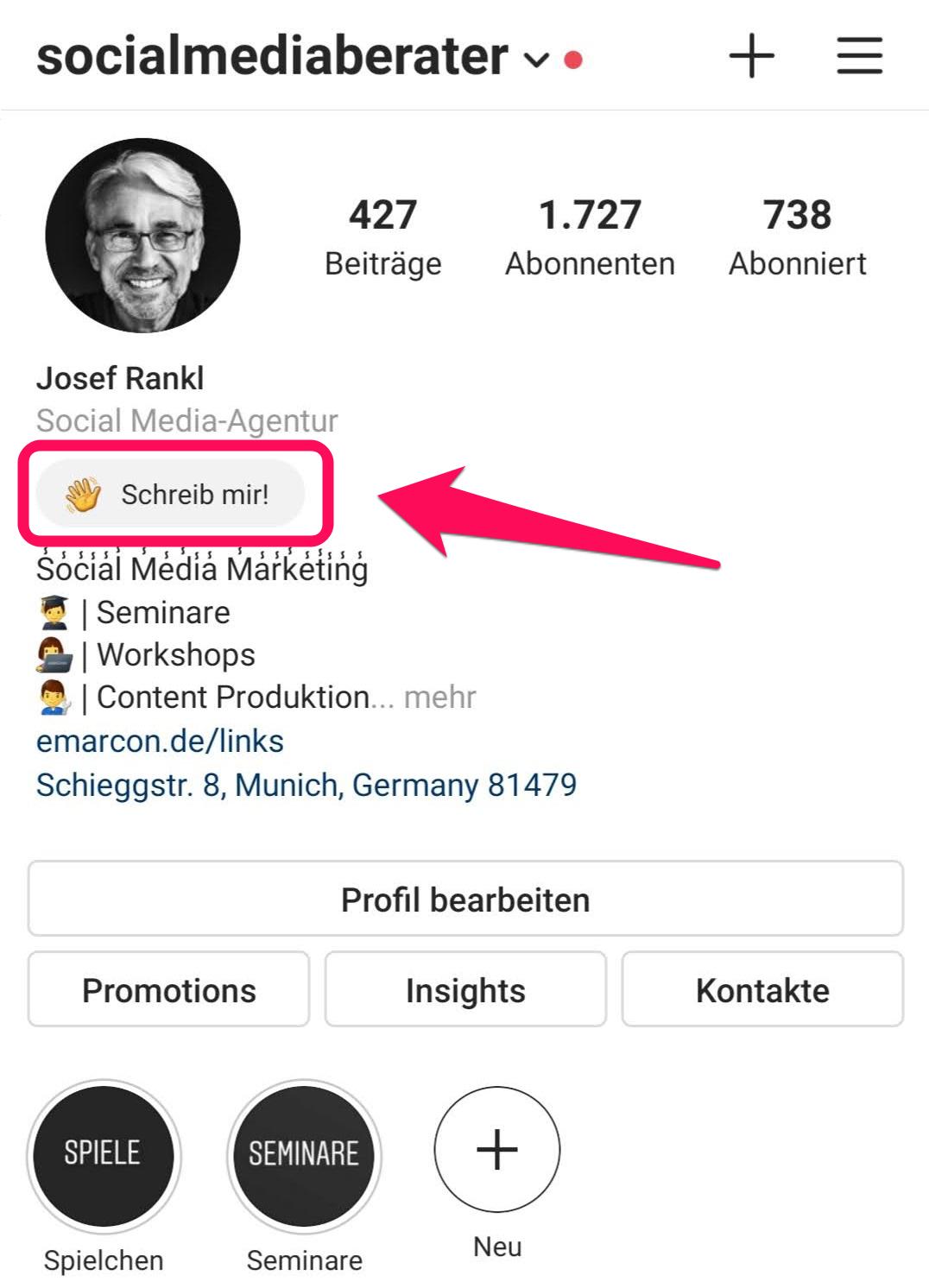 Instagram Hack Status Meldung
