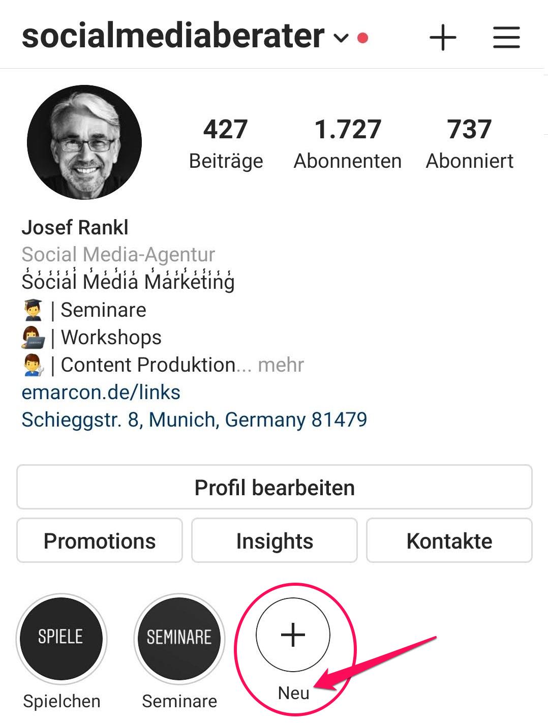 Instagram Hack Highlight Story